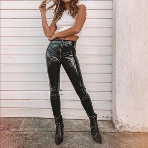Princess Polly pants leather latex like